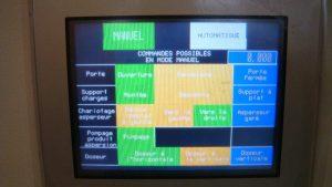 Cabine d'aspersion écran de contrôle de l'automate